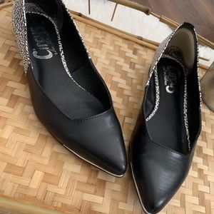 Circus by Sam Edelman Black Faux Leather Flats